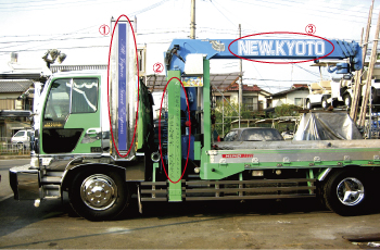搬送用トラック マーキング